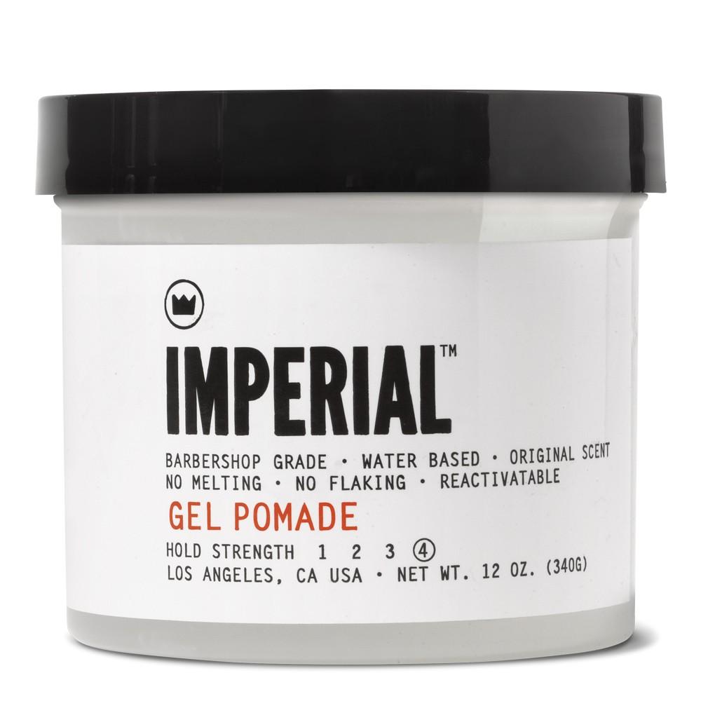 Imperial Barber Gel Pomade 340ml: Η Gel Pomade με βάση το νερό και ενυδατική βιταμίνη B5 συνδυάζει τις καλύτερες ιδιότητες του Gel και της πομάδας για να δημιουργήσετε το στυλ που επιθυμείτε A z