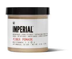 Imperial Barber Fiber Pomade 177gr: Η συγκεκριμένη fiber πομάδα (γνωστή και ως FIBER GREASE) είναι ένα εξαιρετικά εύκαμπτο προϊόν που προσφέρει ένα ευέλικτο αποτέλεσμα με μεσαίο κράτημα και ελαφριά λάμψη.