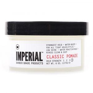 Imperial Barber Classic Pomade 177gr: Η κλασική πομάδα Imperial παρέχει το ισχυρότερο κράτημα και είναι με βάση το νερό.