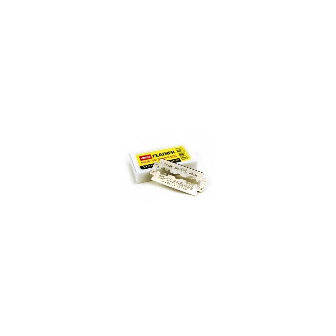 Ξυραφάκια Feather Platinum Yellow 10 Λεπίδες 1 Pack