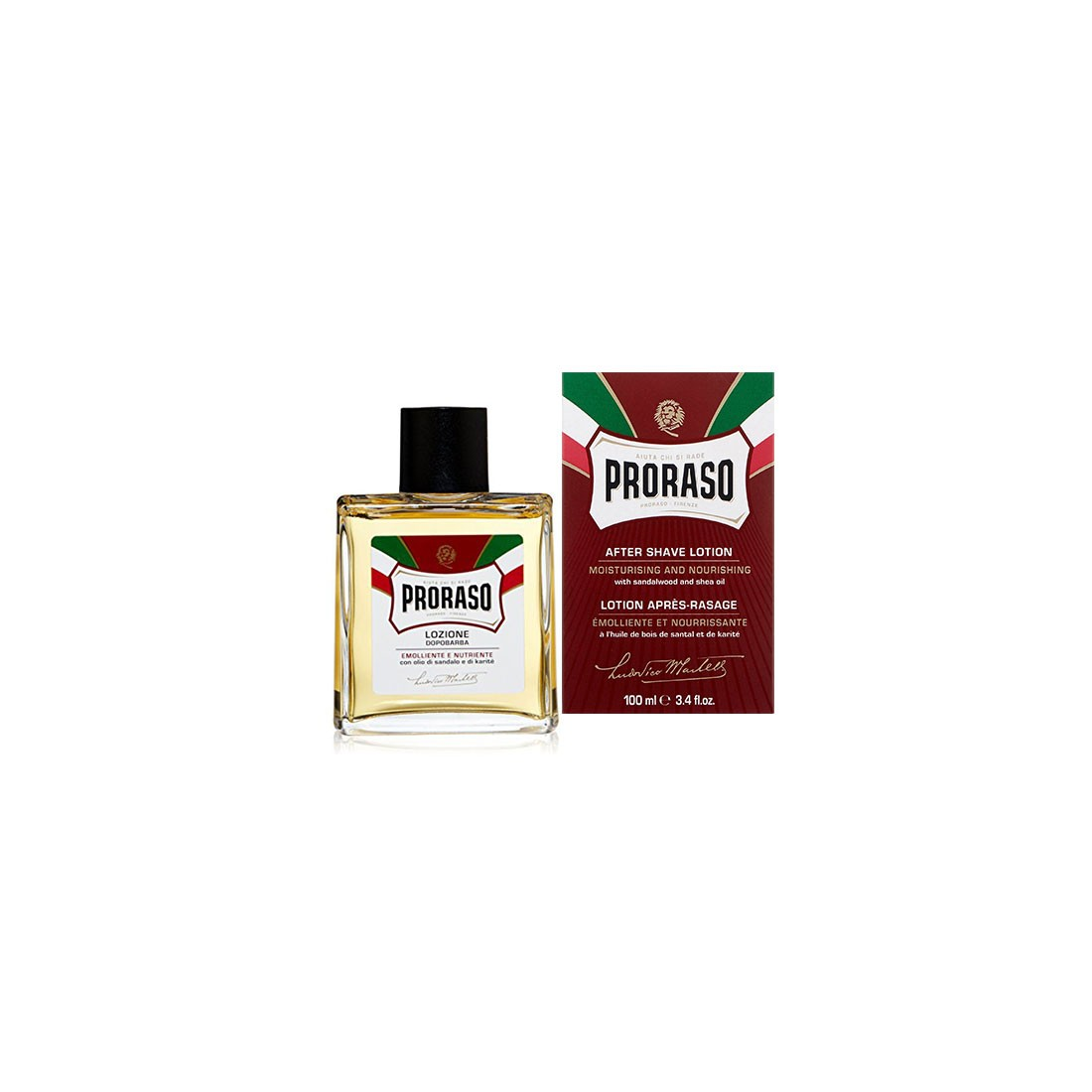 Proraso After Shave Lotion Sandalwood & Shea Oil – 100ml