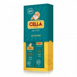 Cella Milano Aloe Organic Shaving Gift Set(Shaving Cream,Aftershave Balm)
