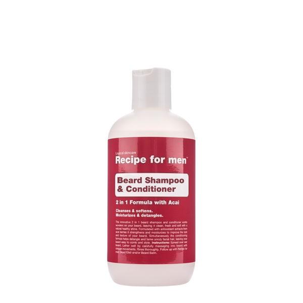 Recipe for men Beard Shampo & Conditioner 250ml(8,3fl.oz.)