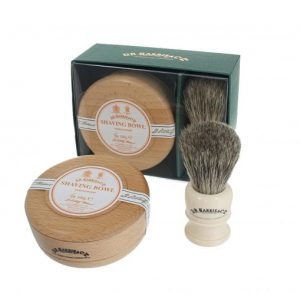 Dr Harris Sandalwood shaving gift set(shaving soap in bowl and sh.brush)