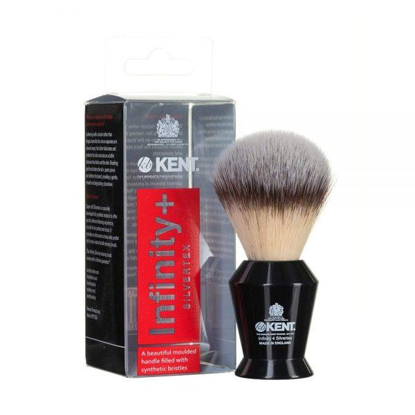 Kent Shaving Brush Black & Synthetic Bristles – Infinity 4 (πιν.ξυρίσματος συνθετικό τρίχωμα)