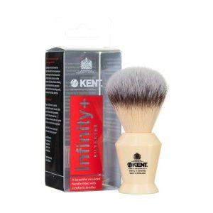 Kent Shaving Brush Ivory & Synthetic Bristles – Infinity 3 (πιν.ξυρίσματος συνθετικό τρίχωμα)