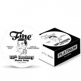Fine Shaving Soap Platinum 150ml – NEW Formula