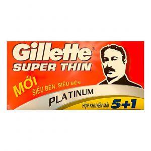 Λεπίδες Ξυρίσματος DE Gillette Super Thin Platinum – 5+1 Ξυραφάκια