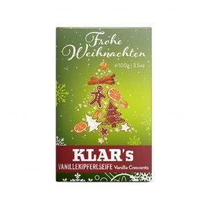 Klar's Christmass σαπούνι κρουασάν βανίλια 100g, χωρίς φοινικέλαιο