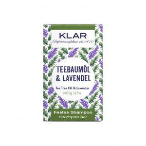 Klar's Bar Shampoo Tea tree oil & Laventer100g (σαπούνι μαλλιών σε μπαρα)