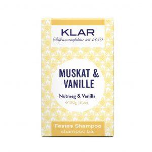 Klar's Bar Shampoo μοσχοκάρυδο & βανίλια 100g (σαπούνι μαλλιών σε μπάρα)