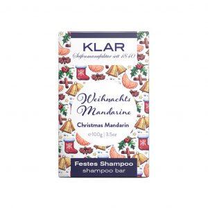 Klar's Bar Shampoo Christmas mandarine 100g (σαπούνι μαλλιών σε μπάρα)